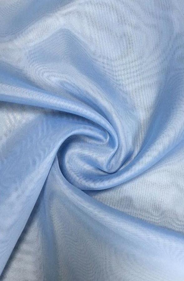 Скатерть голубая вуаль квадратная