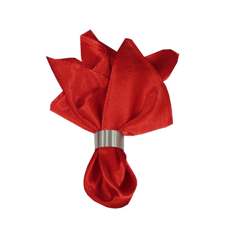 Салфетка Красный креп-сатин