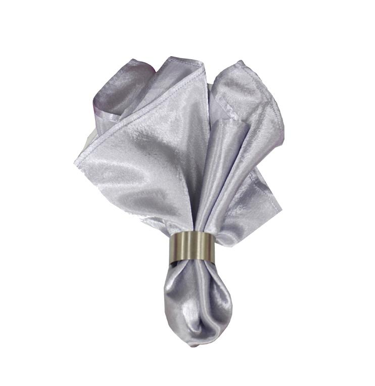 Салфетка серебряный креп-сатин
