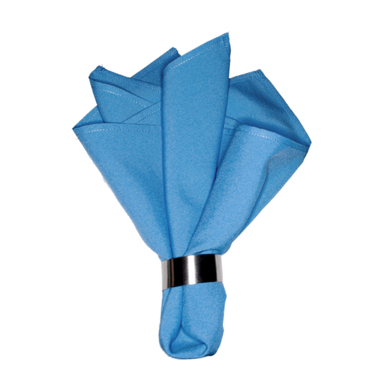 Салфетка сине-голубой габардин