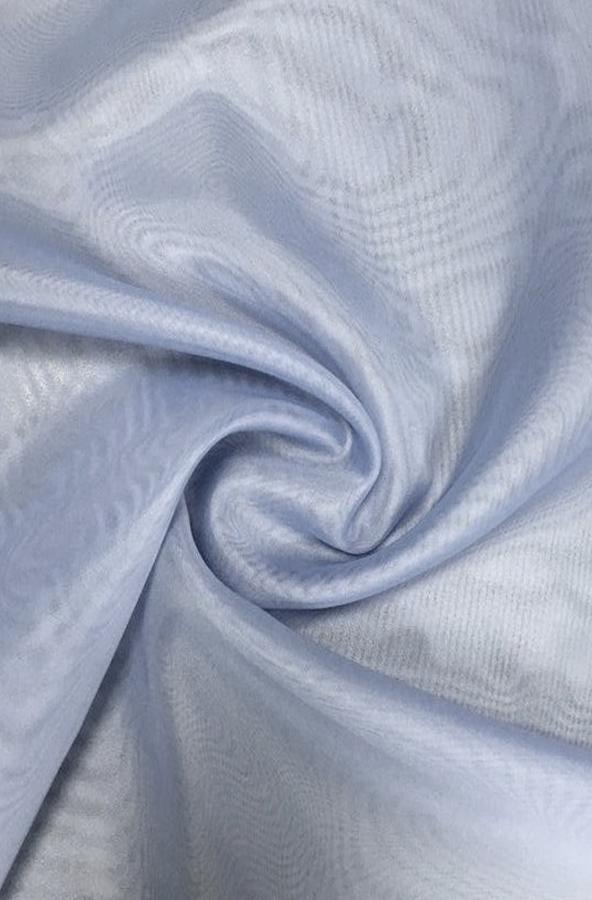 Скатерть пыльно-голубая вуаль круглая