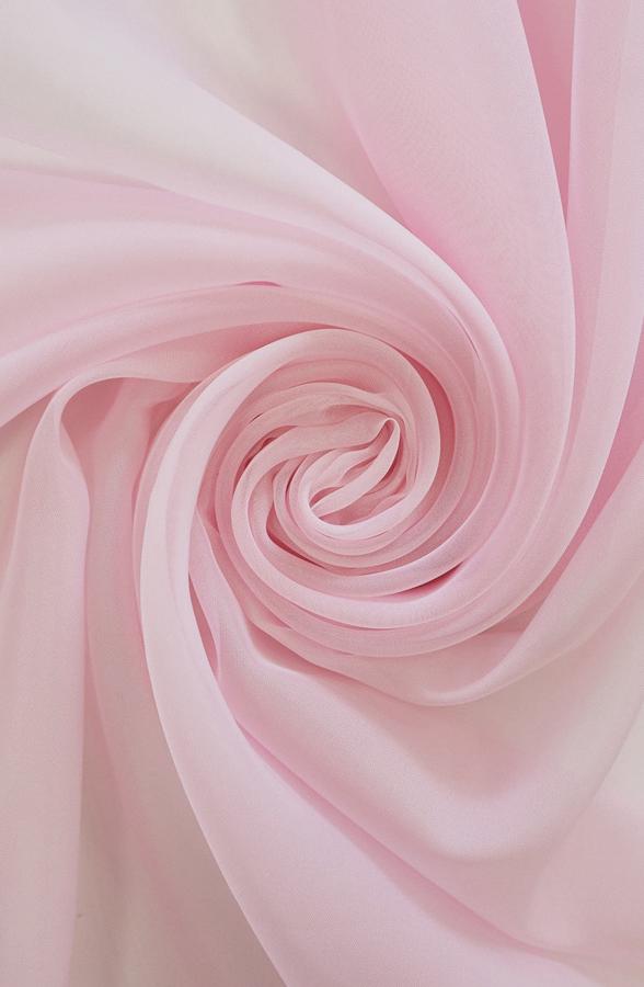 Скатерть пепельно-розовая вуаль круглая