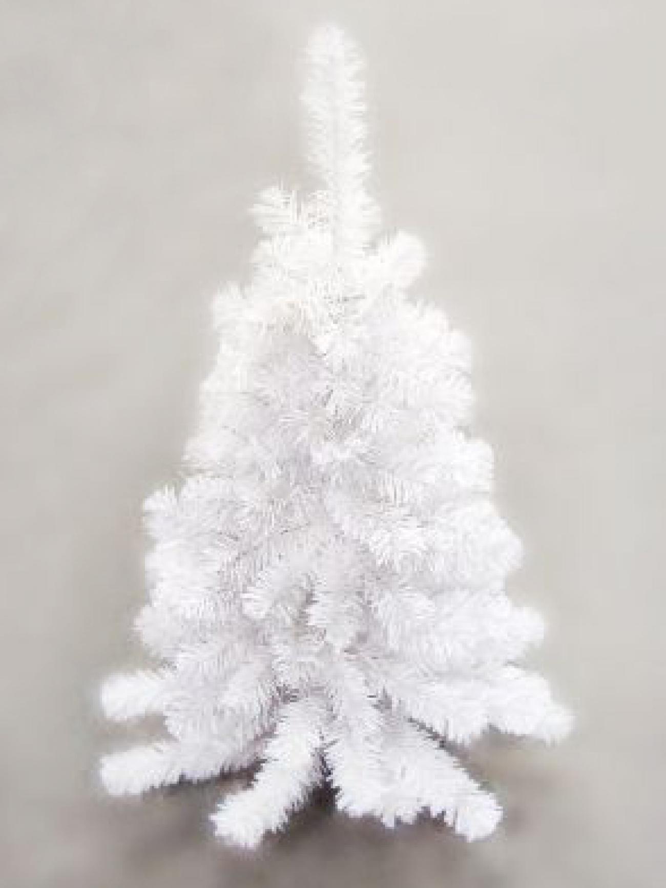 Ель декоративная белая 165 см