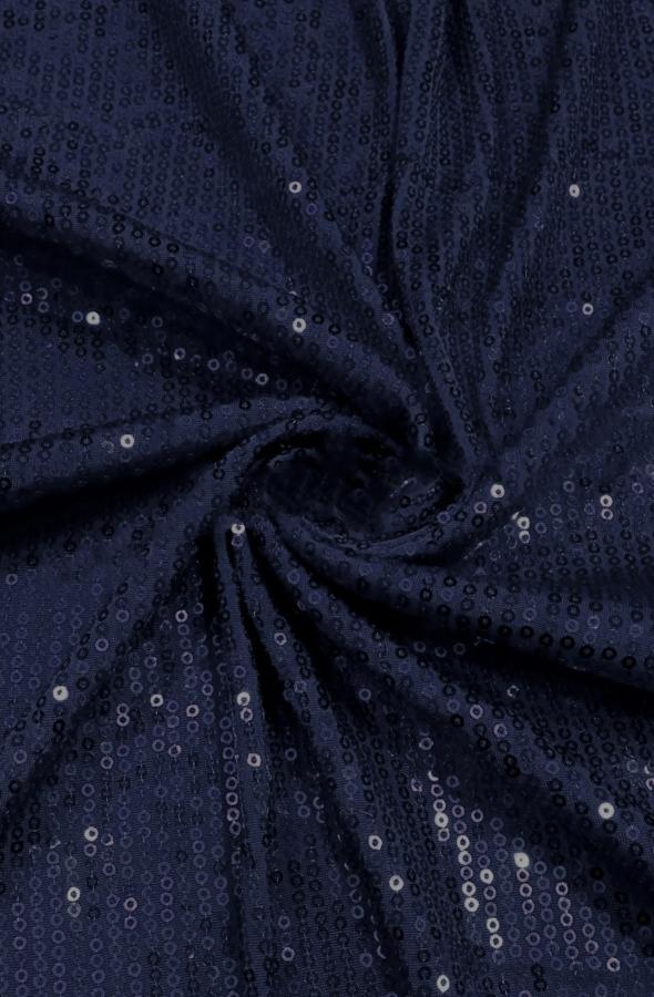 Скатерть президиумная темно-синие пайетки