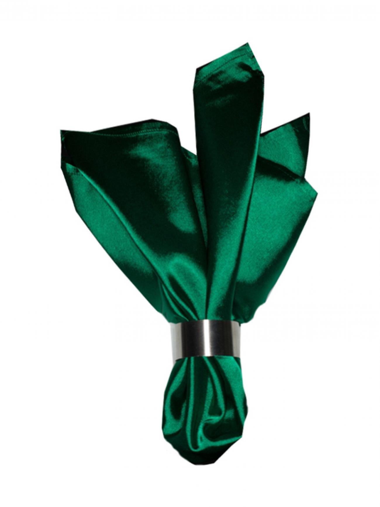 Салфетка зеленый атлас