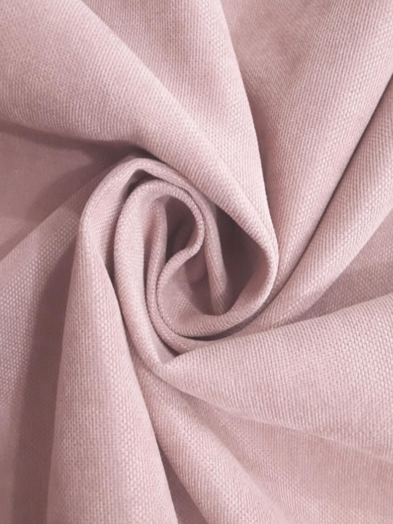 Скатерть портьерная пепельно-розовая круглая