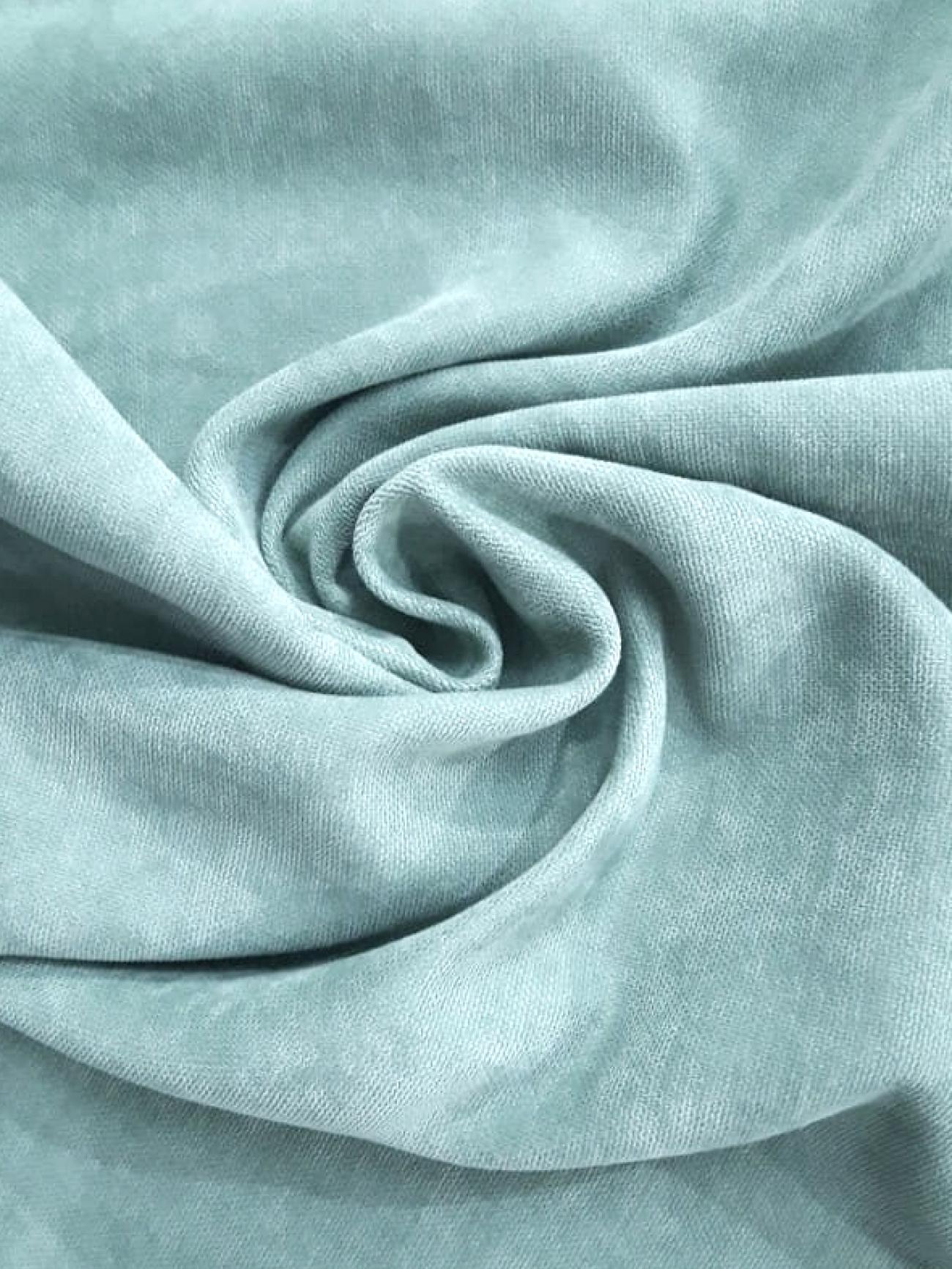 Скатерть портьерная мятно-голубая круглая