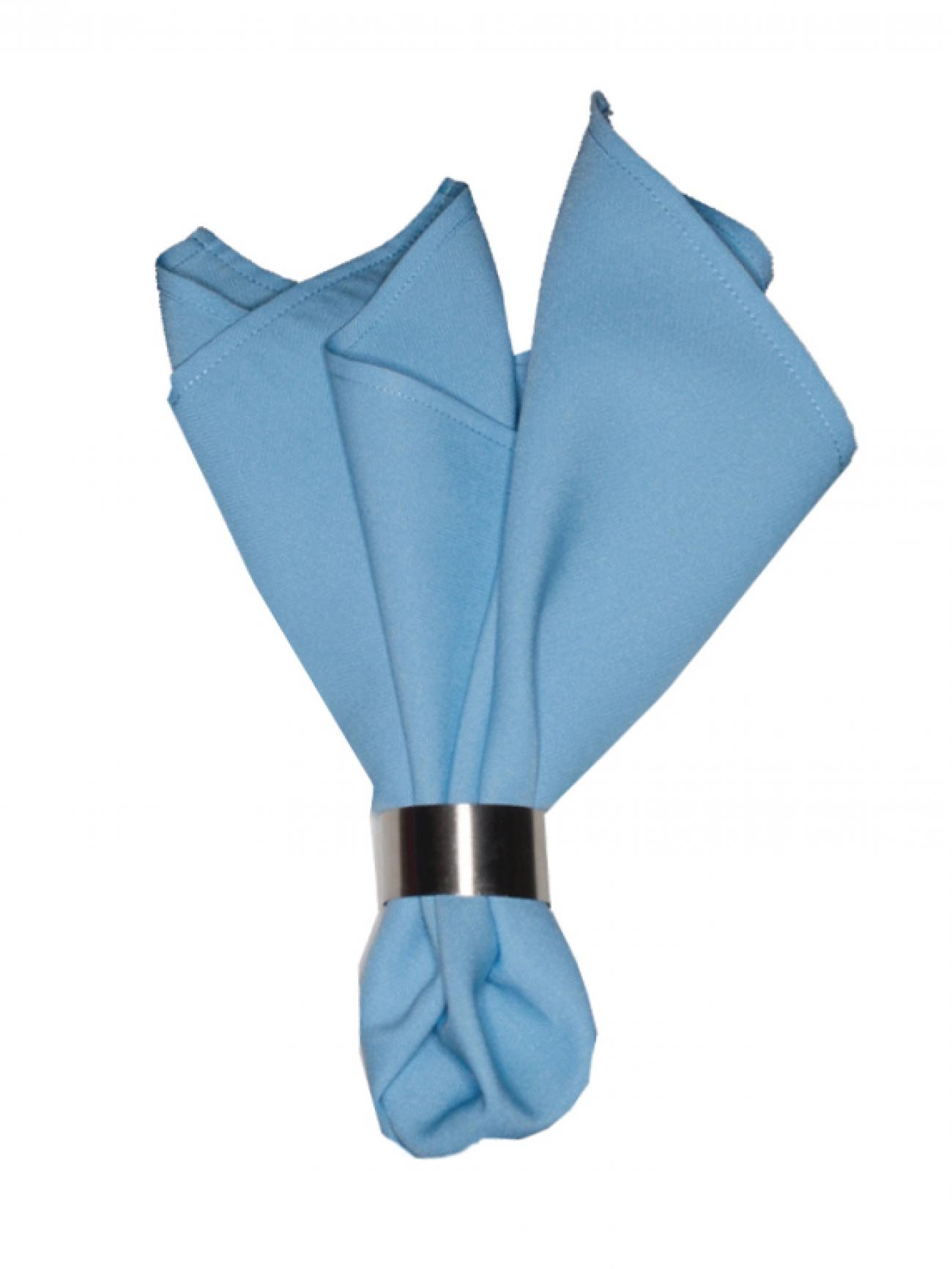 Салфетка голубой габардин