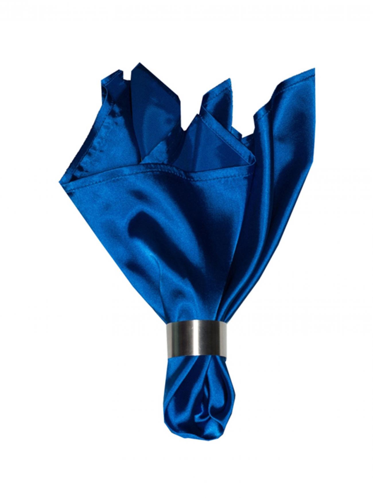Салфетка синий атлас