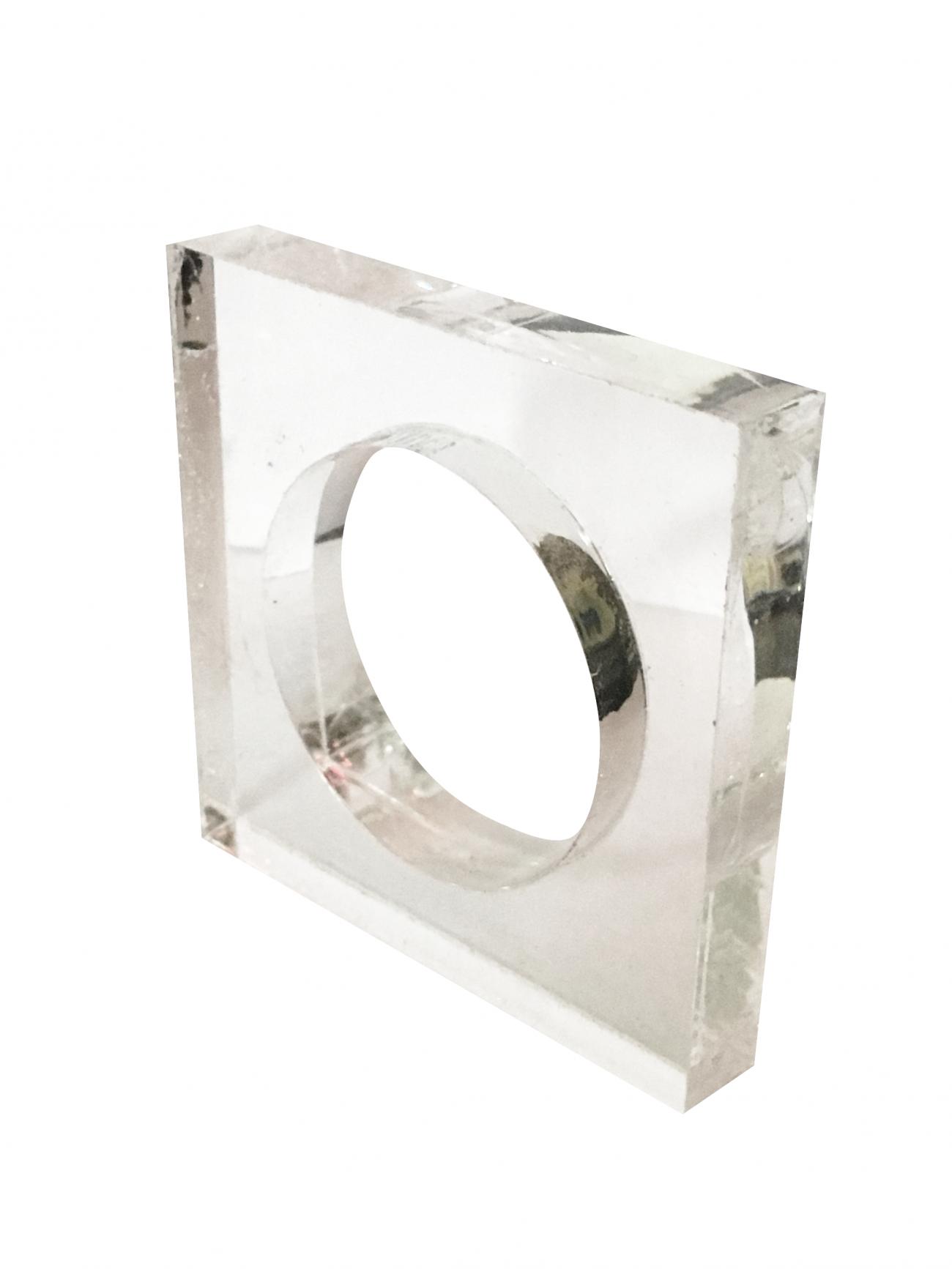 Кольцо квадрат пластик