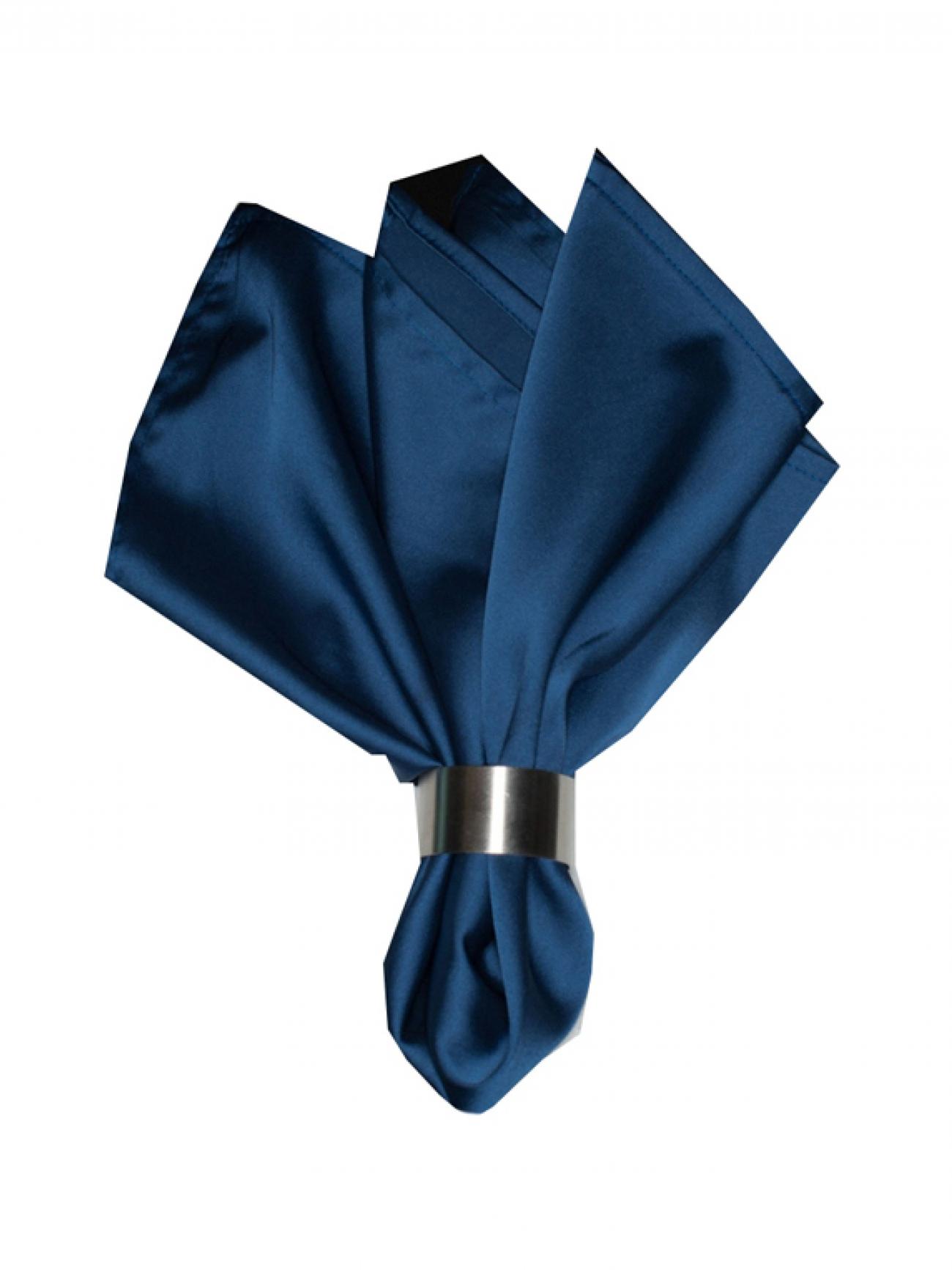 Салфетка пепельно-синий атлас
