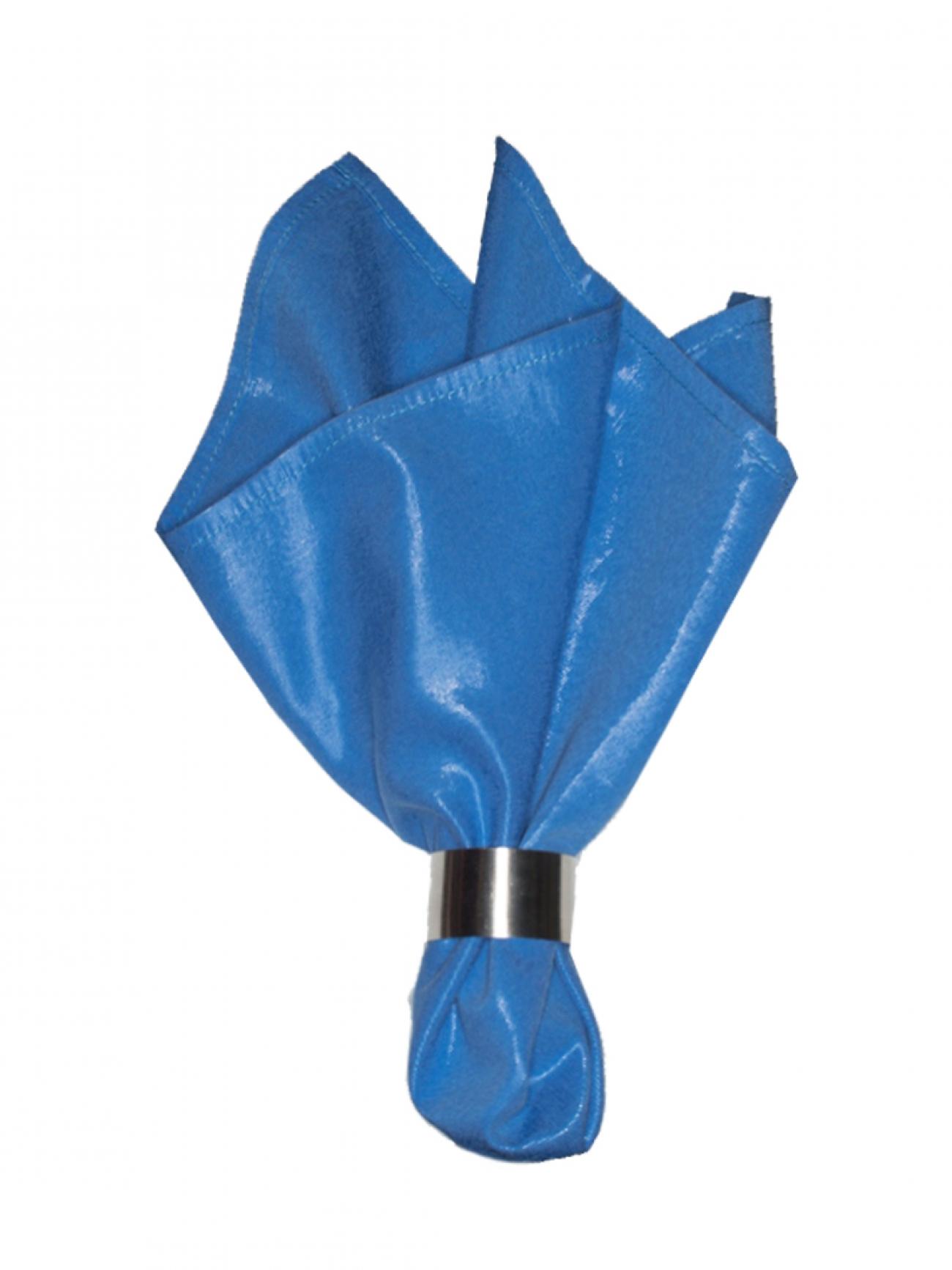 Салфетка голубой с блеском