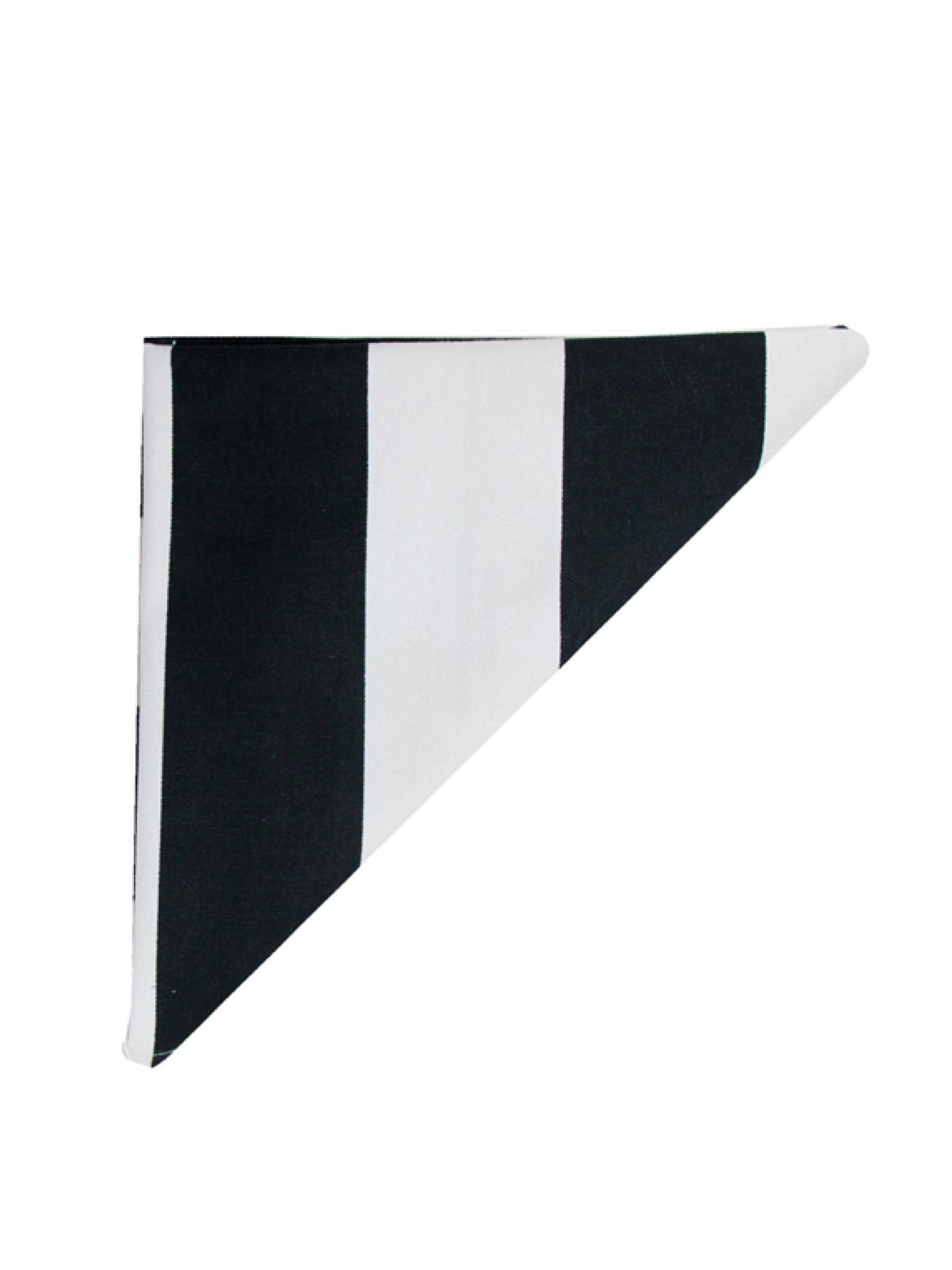 Салфетка полосатые черно-белые