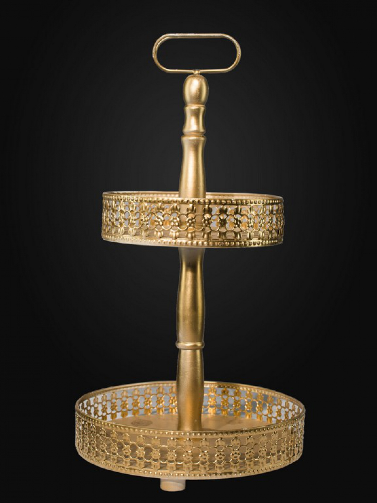 Этажерка кованное золото