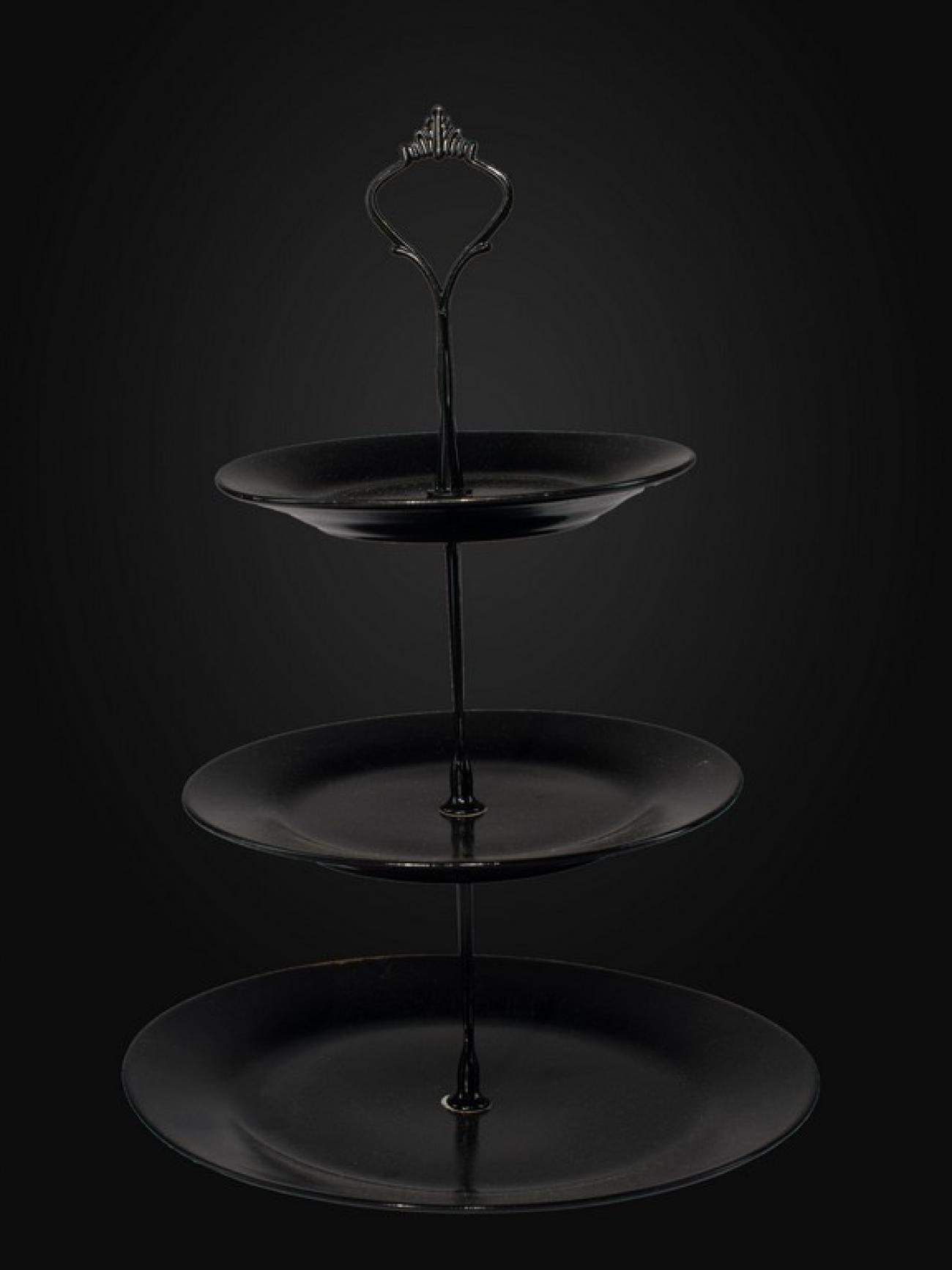 Этажерка черная круглая