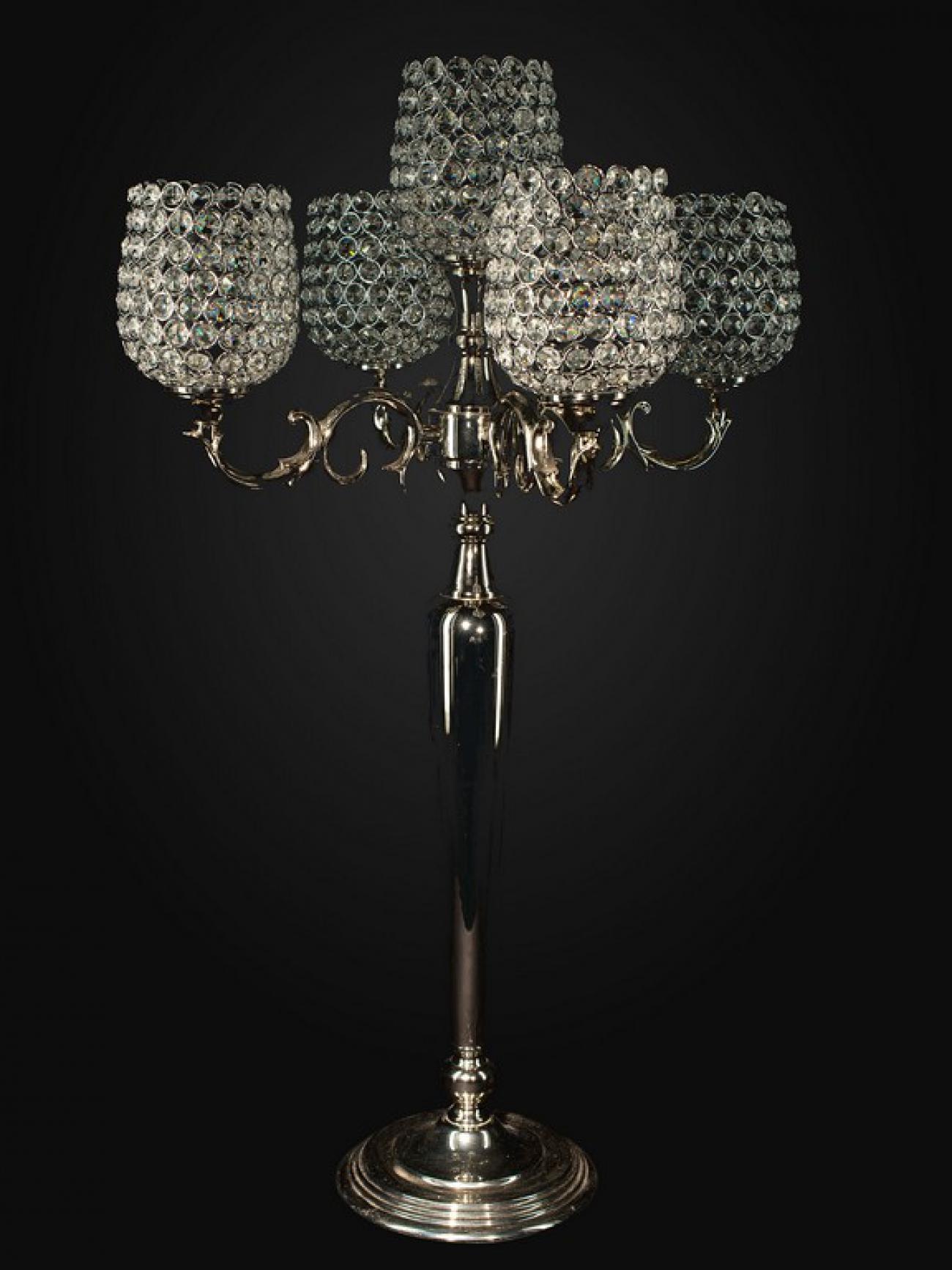 Канделябр серебро со стразами
