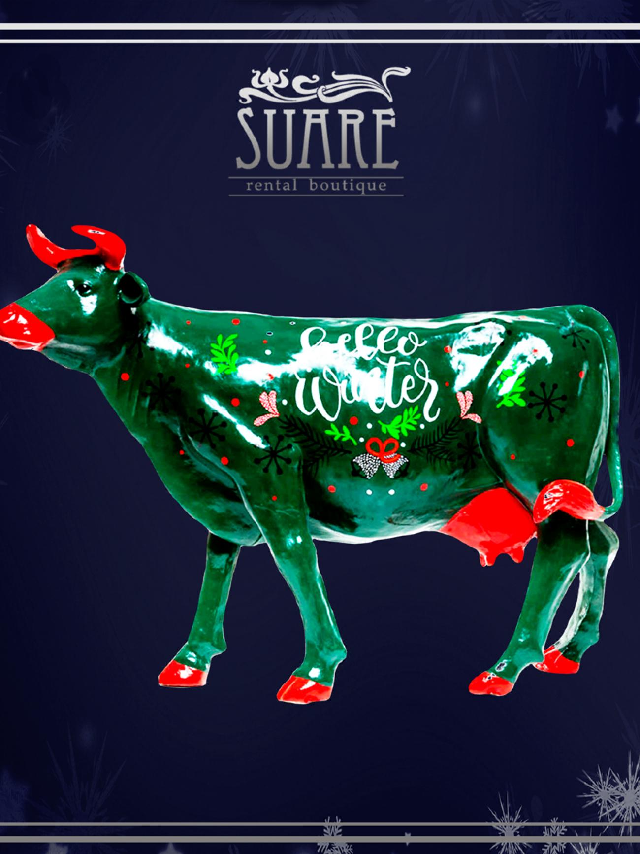 Корова новогодняя