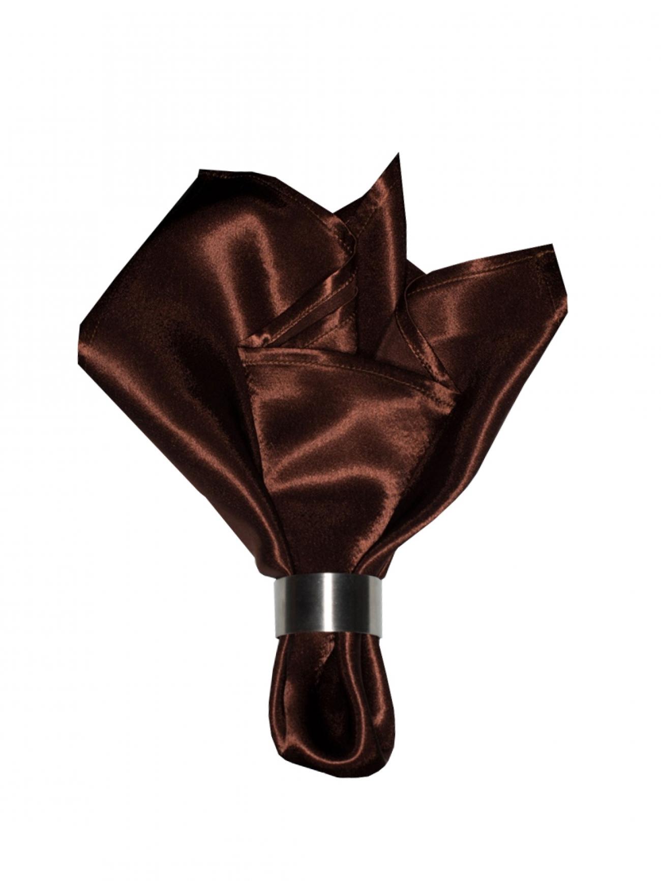 Салфетка коричневый креп-сатин