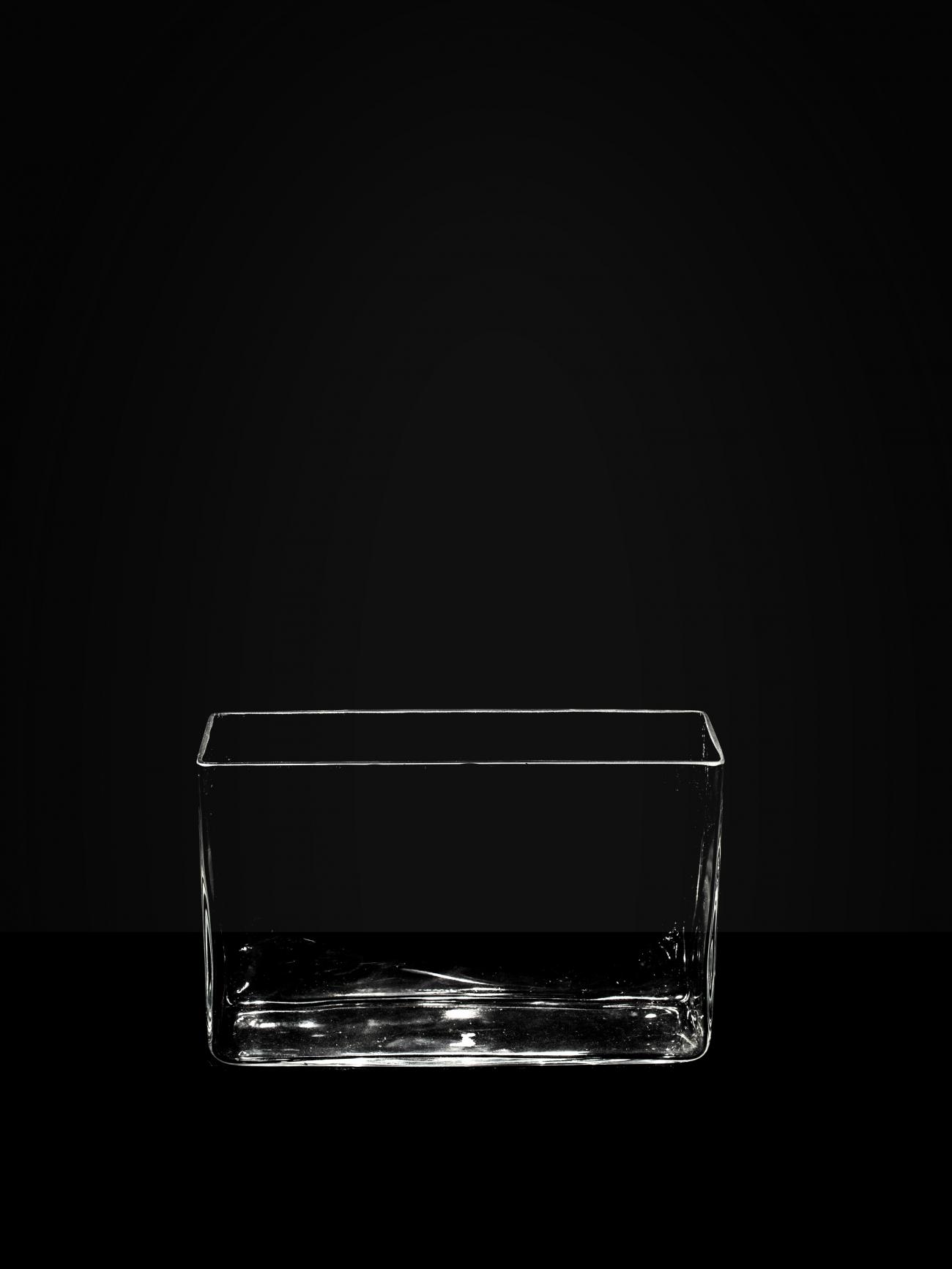 Плоская прямоугольная ваза
