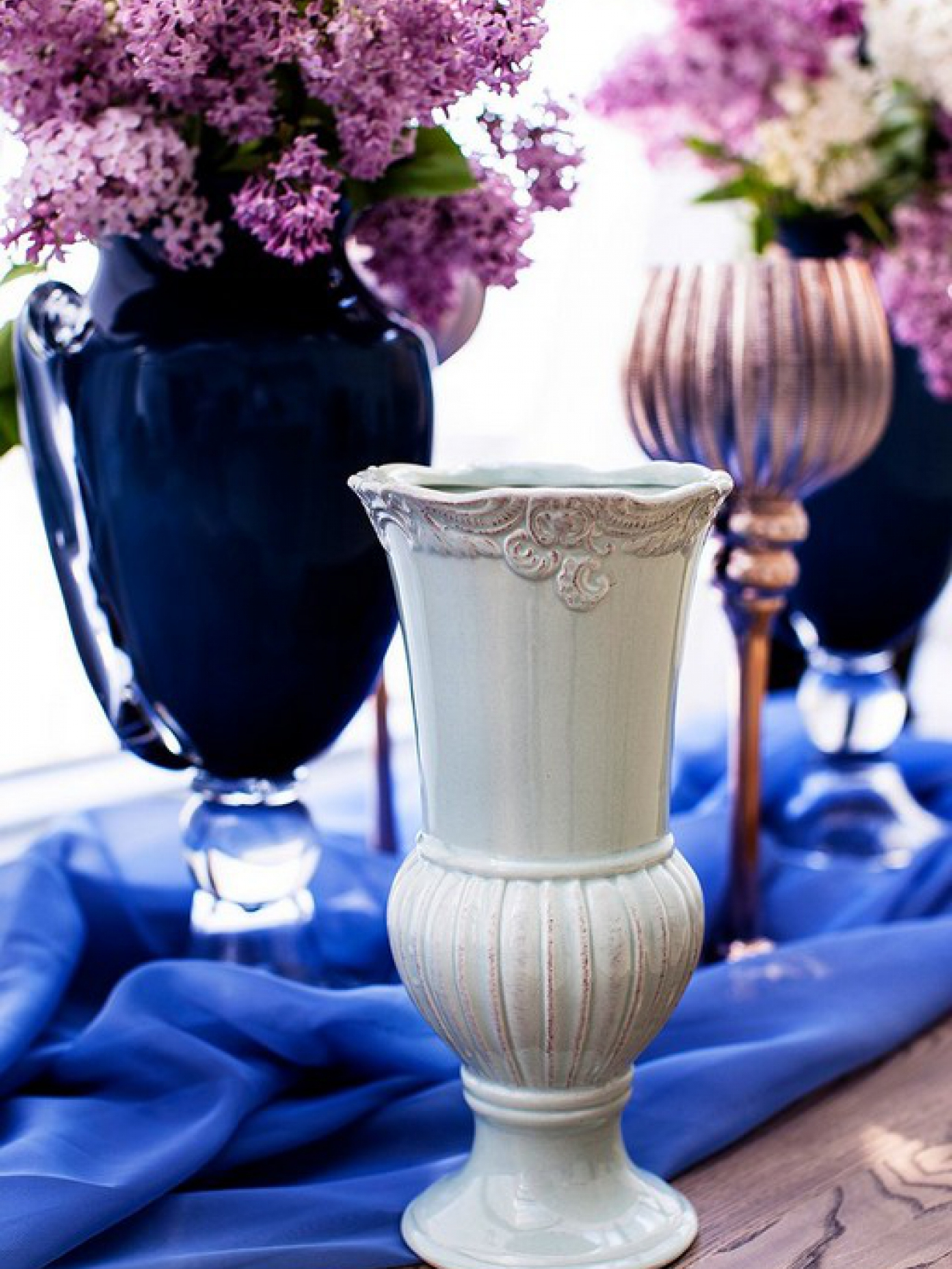 Ваза керамика оливковая