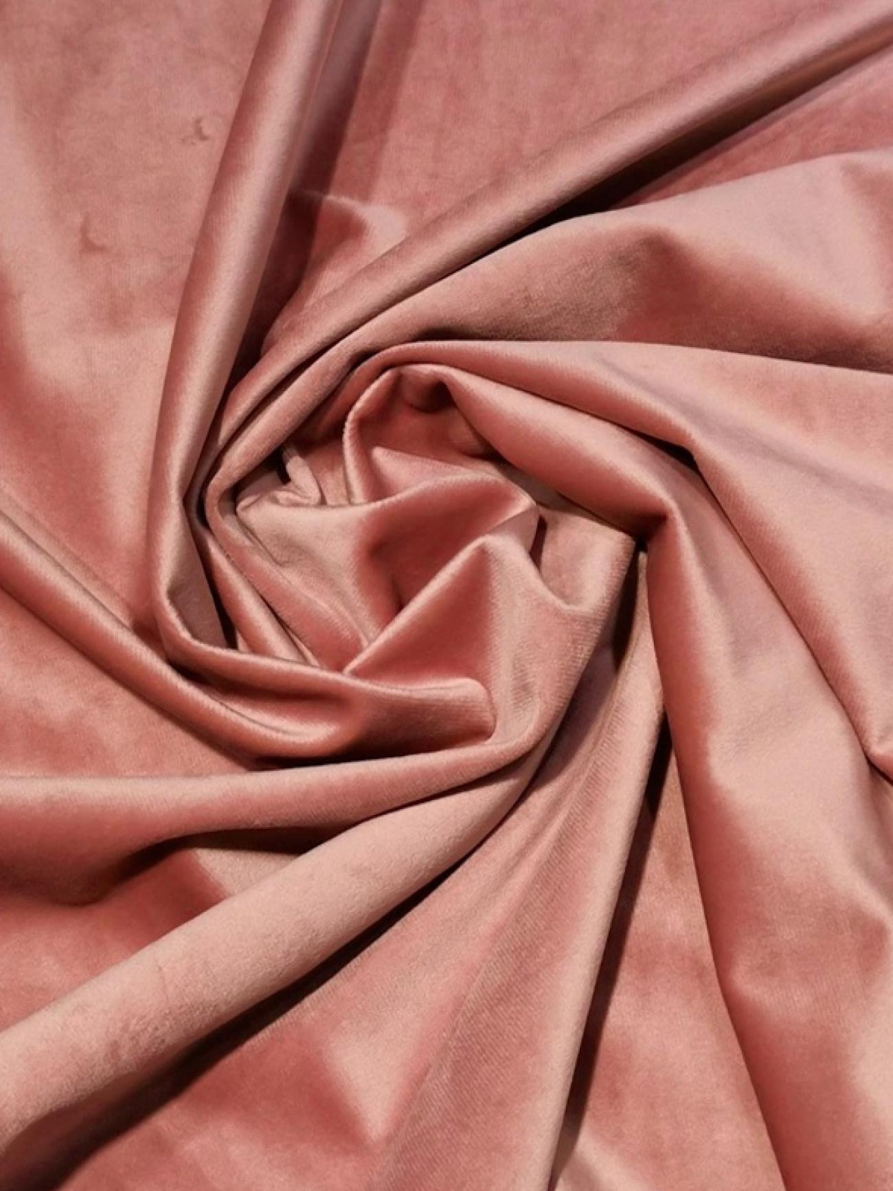 Скатерть пепельно-розовая бархатная овальная