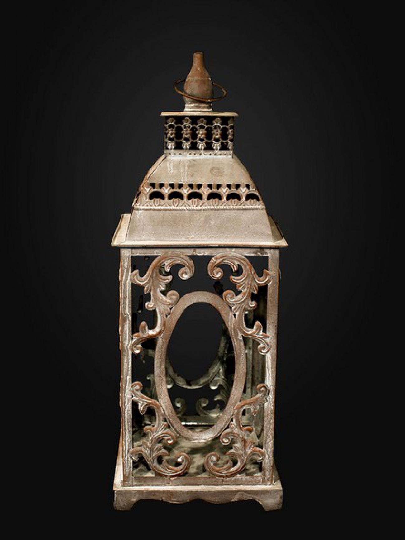 Ажурный кованый фонарь 50 см.
